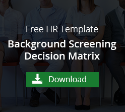 EEOC Background Screening Decision Matrix Template