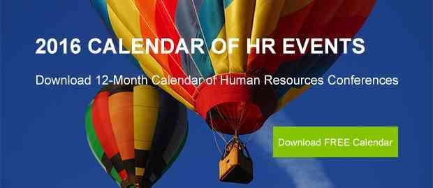 2016 calendar of HR events