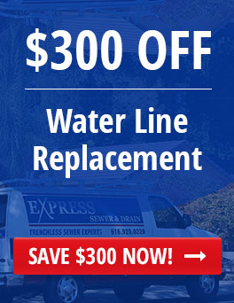 Save $300 on Water Line Replacement