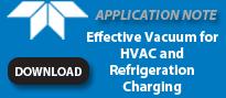 有效真空HVAC和制冷充电