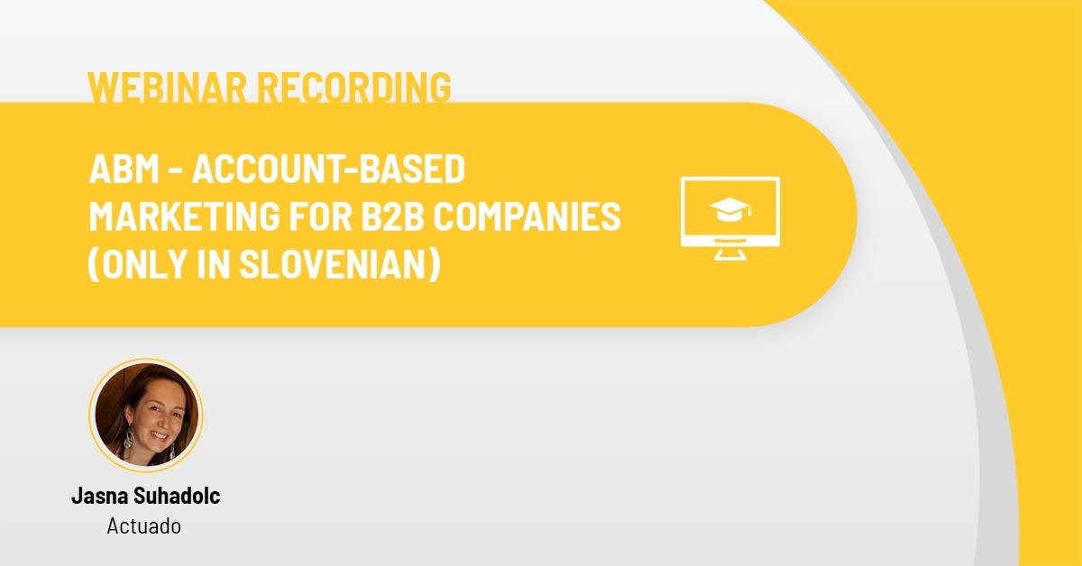 Actuado webinar recording - ABM