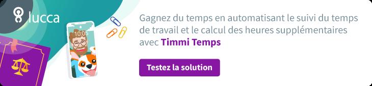 Testez Timmi, solution de suivi des temps et activités