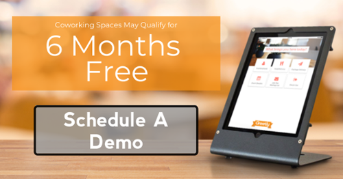 6 months free visitor check-in software for coworking spaces