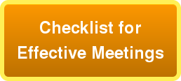 Checklist for Effective Meetings