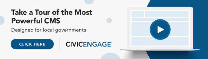 CivicEngage local government content management system demonstration