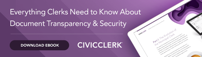 eBook: Ensuring Document Transparency and Security for Municipal Clerks