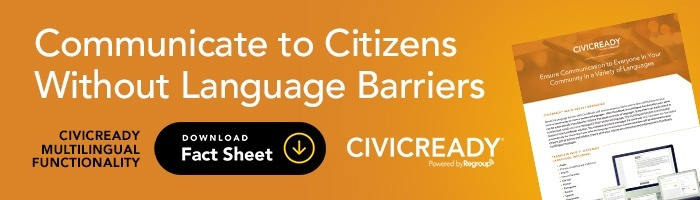CivicReady Multilingual text, email, phone functionality