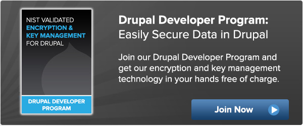 Drupal Developer Program Encryption Key Management