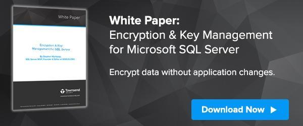 Encryption and Key Management for Microsoft SQL Server