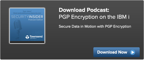 PGP encryption on the IBM i