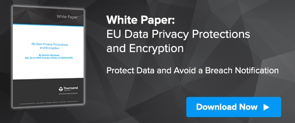 EU Data Privacy Protections and Encryption