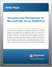 Download White Paper on EKM for SQL Server