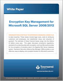 Download White Paper on EKM for SQL Server