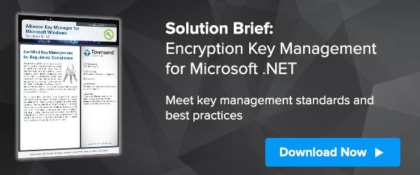 Encryption Key Management for Microsoft .NET