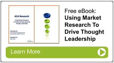 Using Market Research to Drive Thought Leadership