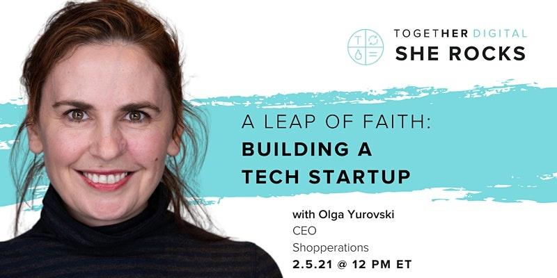Shopperations Founder & CEO Olga Yurovski Presents at Together In Digital/SheRocks summit