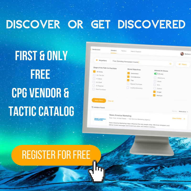 CPG marketing vendor and tactics catalog