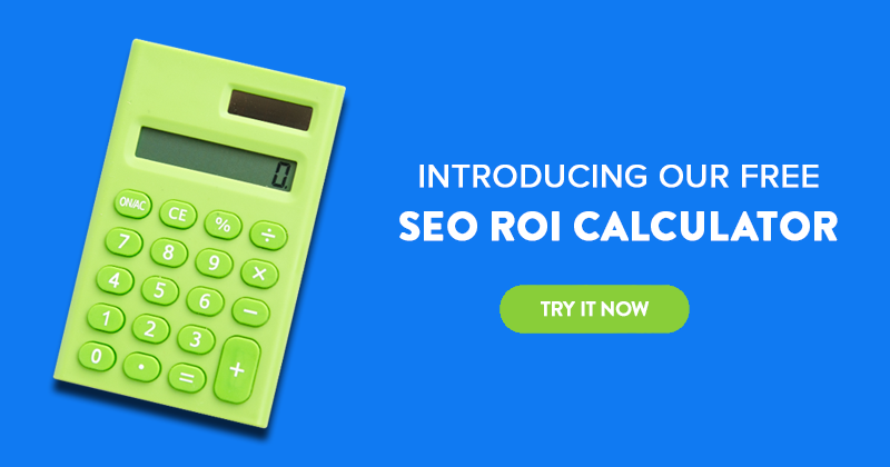 SEO ROI Calculator Blog CTA