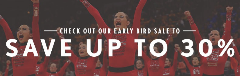 Save up to 30% with our Early Bird Sale