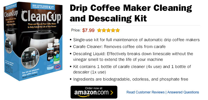 DRIP COFFEE MAKER CLEANING AND DESCALING KIT