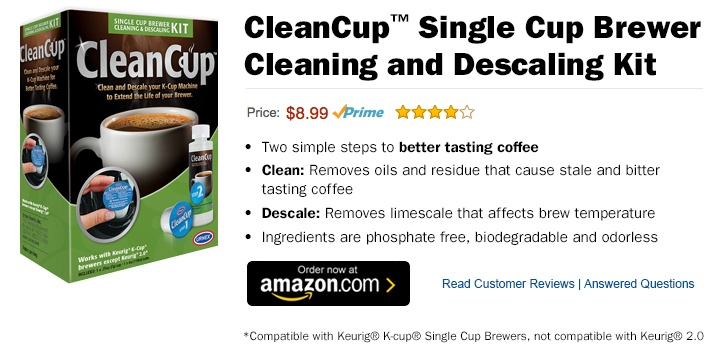 CleanCup Single Cup Brewer Cleaning and Descaling Kit