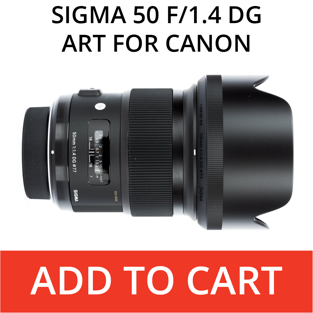 Sigma 50 Art for Canon