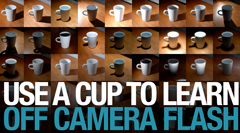 Use a Cup to Learn Off Camera Flash