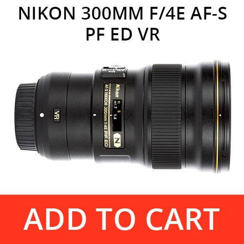 Rent a Nikon 300 f/4E FL PF ED VR