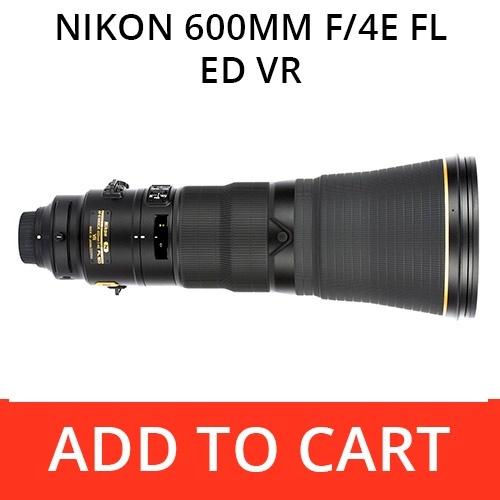 Rent a Nikon 600 f/4E FL ED VR