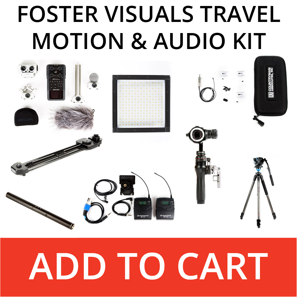 Foster Visuals travel motion and audio kit