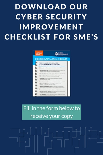 Cyber Security SME Checklist