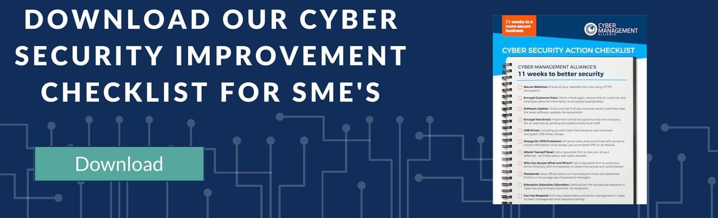 Cyber Security SME Checklist