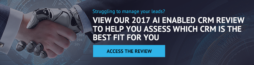 View our 2017 AI enabled CRM review