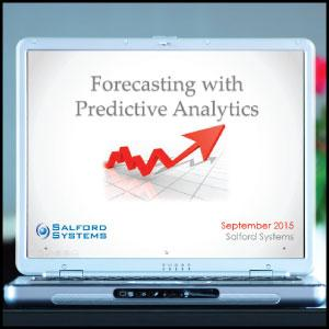 Forecasting with Predictive Analytics recorded webinar