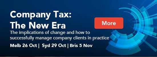 Company Tax: The New Era