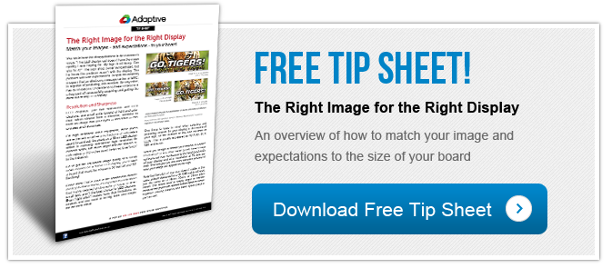 Free Tip Sheet -The Right Image for the Right Display