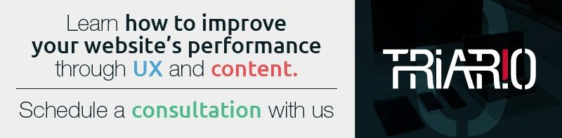 Schedule a UX Content Website Consultation with Triario