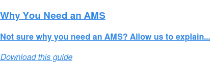 Why You Need an AMS Guide