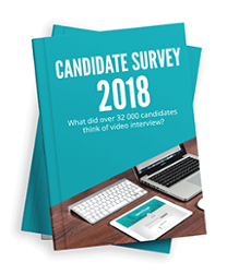 Video interview candidate survey 2018