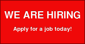 WE ARE HIRING  Apply for a job today!