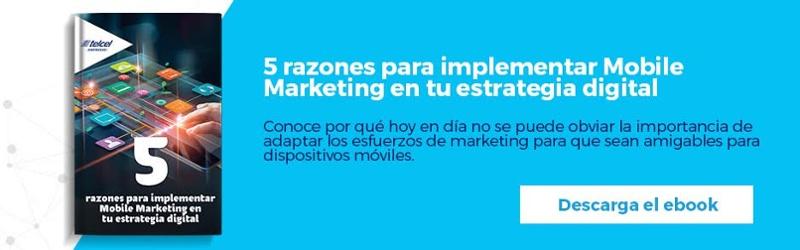"""Regístrate y descarga gratis el ebook """"5 razones para implementar Mobile Marketing en tu estrategia digital"""""""