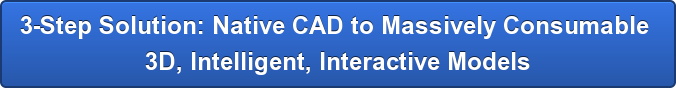 3-Step Solution: Native CAD to Massively Consumable  3D, Intelligent, Interactive Models