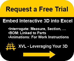 Request a free trial to embed interactive 3D into Excel.