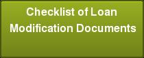 Checklist of Loan Modification Documents