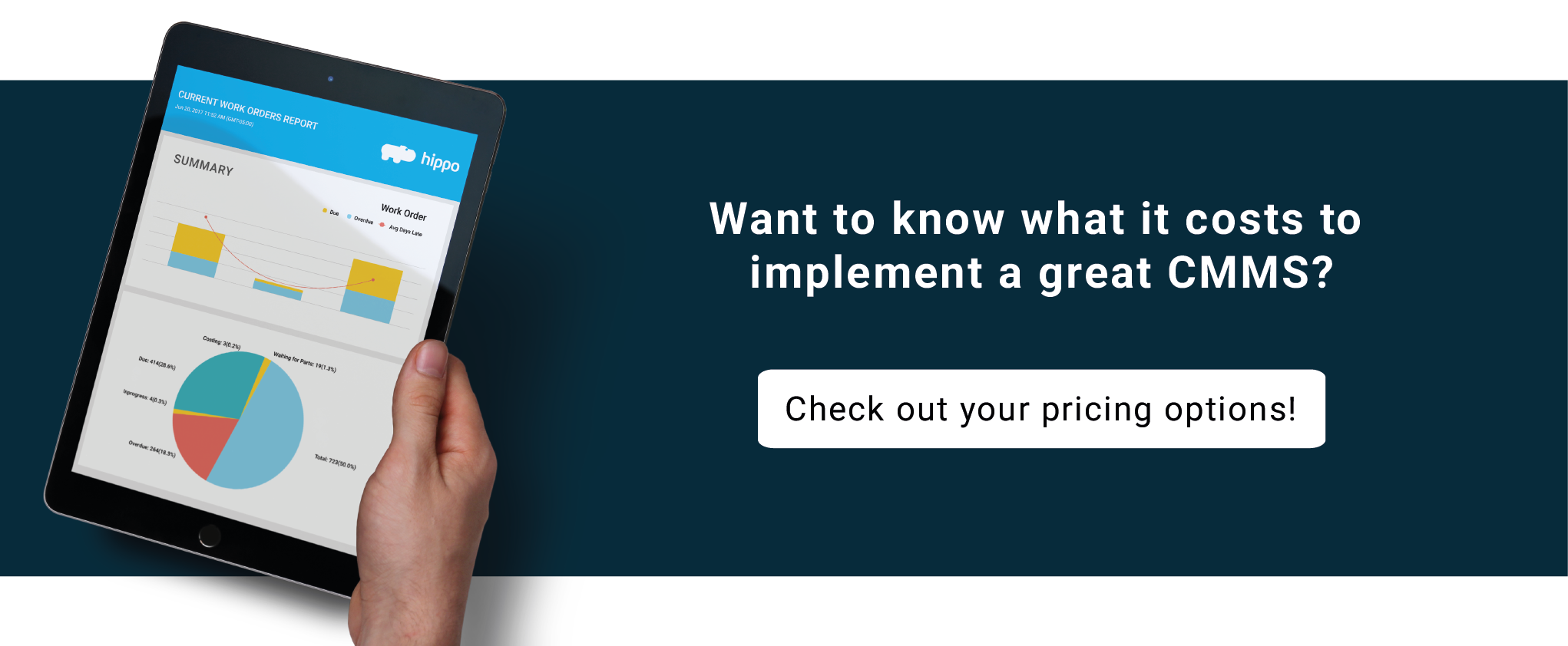Want to know what it costs to implement a great CMMS? Check out your pricing options!
