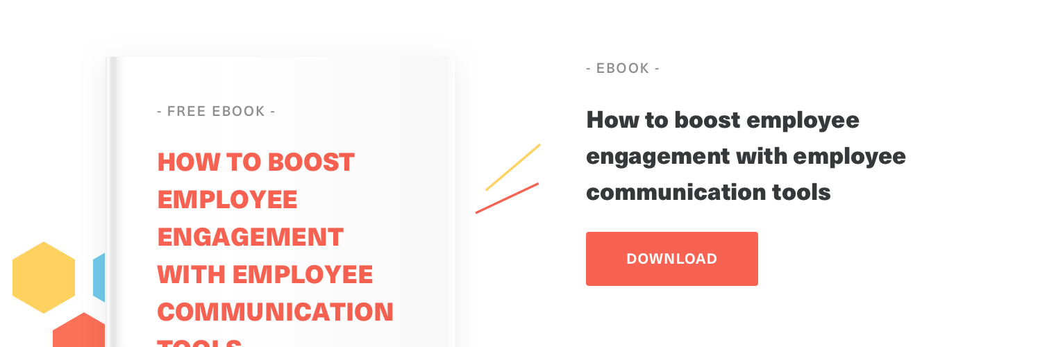 A free guide on how to boost employee engagement with employee communication tools