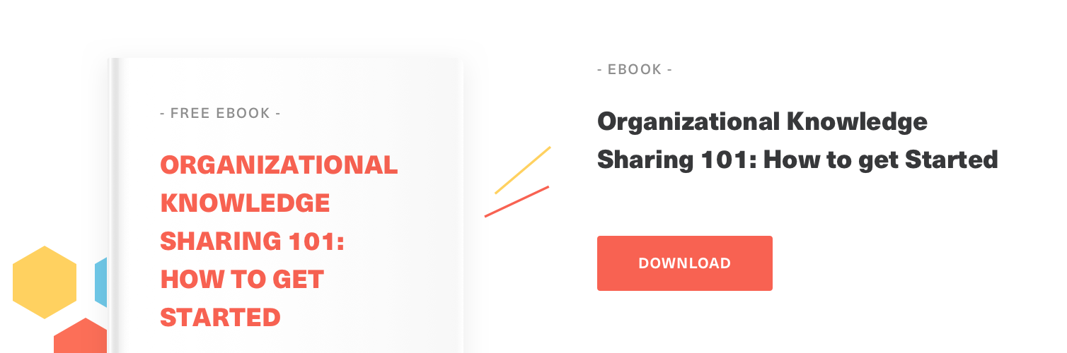 Free Guide - Organizational Knowledge Sharing 101: How to get Started