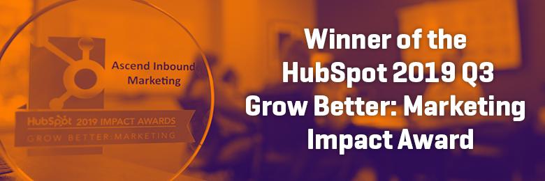 Ascend Inbound Wins HubSpot Impact Award