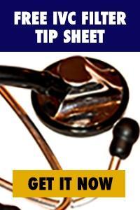 IVC filter tip sheet