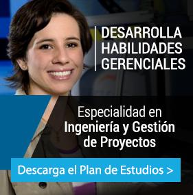 UP - Ingeniería - Plan de estudio -  ESPECIALIDAD EN INGENIERÍA Y GESTIÓN DE PROYECTOS